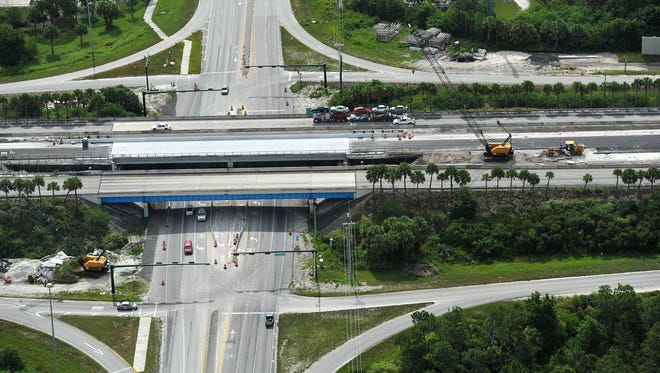Interstate 95 construction in Indian River County.