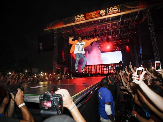 Rapper A$AP Rocky performed last summer at the Common