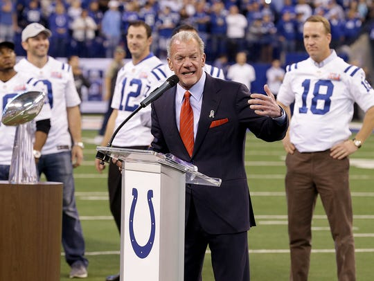 Colts owner Jim Irsay honored the Super Bowl XLI champs
