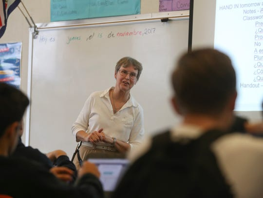 Central Valley substitute Spanish teacher Miriam Mustain