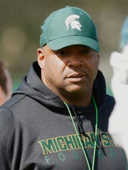 Michigan State defensive line coach Ron Burton Kirthmon F. Dozier/Detroit Free Press