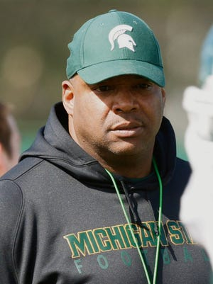 Michigan State defensive line coach Ron Burton Kirthmon F. Dozier/Detroit Free Press