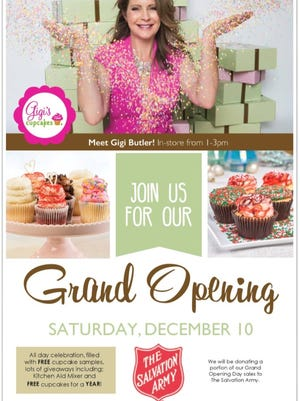 Gigi's Cupcakes will hold a grand opening from 10 a.m.-close Dec. 10 at its new location in Turtle Creek Crossing.