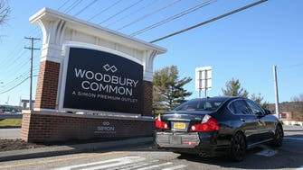 An entrance to Woodbury Commons in Harriman on Thursday, December 7, 2017.