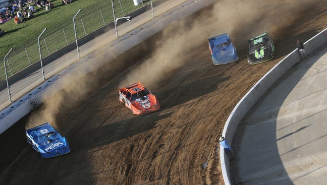 Drivers took to the dirt track on Sunday for the Freedom 50 race at Mansfield Motor Speedway.