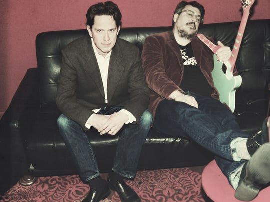 John Linnell (left) and John Flansburgh of They Might Be Giants perform Saturday at Higher Ground.