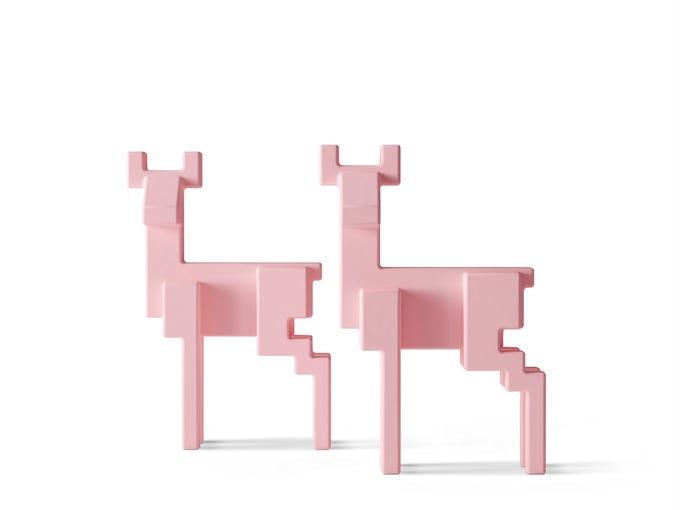 Pink Samspelt deer decoration $19.99 from Ikea.