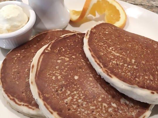 Quinoa pancakes from Purple Parrot in the Atlantis.