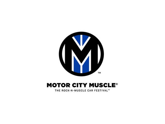 Logo for Motor City Muscle, a new rock and muscle-car festival premiering at Hart Plaza in August 2017.