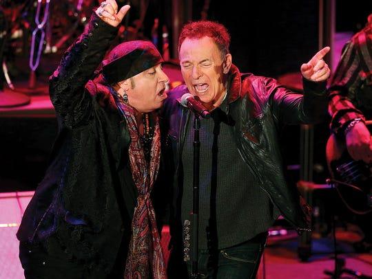 Musician and actor Steven Van Zandt and  Bruce Springsteen