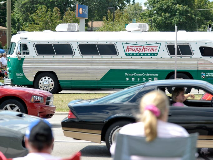Krispy Kreme Doughnuts offers franchises and sells a range of merchandise, including T-shirts, hats, coffee, mugs and toys. The company participates in several fundraising activities and maintains a location in Tampa 8/10(37).