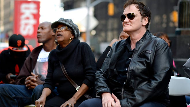 Quentin Tarantino at New York protest on Oct. 22, 2015.