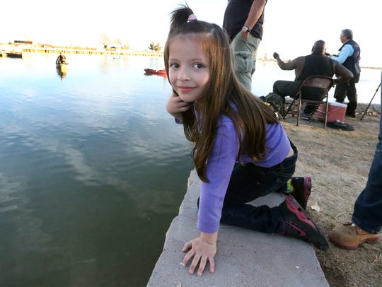 Delilah Diaz, 5, of El Paso went to Ascarate Lake with