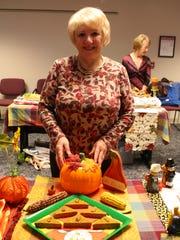 Gabriele Eisemann poses with her Pumpkin Bacon Cornbread