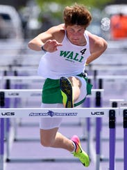 Drake Holifield of Wall won the boys 110 meter hurdles Saturday, April 28, 2018, during the Region I-3A Track and Field Championship at Abilene Christian University's Elmer Gray Stadium.