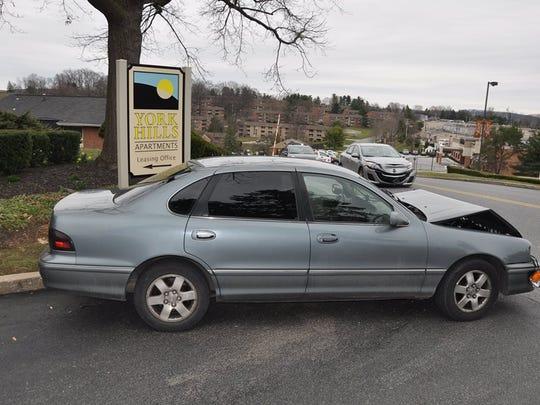 York Area Regional Police say Yahke Jones Jr., of York City, intentionally crashed his car on March 30, 2017. Photo courtesy York Area Regional Police.