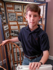 Hunter Scott stands for a photo in 1997.