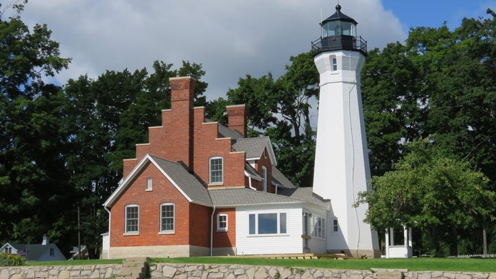 The Port Sanilac lighthouse is now a private home.