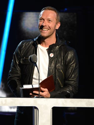 Chris Martin spoke at the Rock and Roll Hall of Fame induction ceremony on April 10.