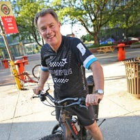 Mayor Hogsett bikes to work to promote benefits of cycling