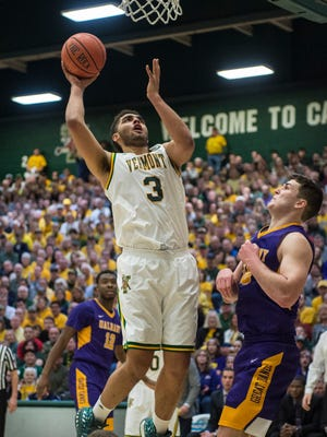 Vermont forward Anthony Lamb leads the Catamounts in scoring with 12.6 points a game.