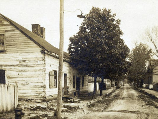 Pictured is U.S. President James Buchanan's home place along Fayette Street, Mercersburg, as seen in the early 1900s.