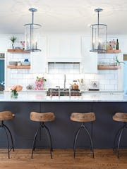 Use open shelving to display favorite items and declutter