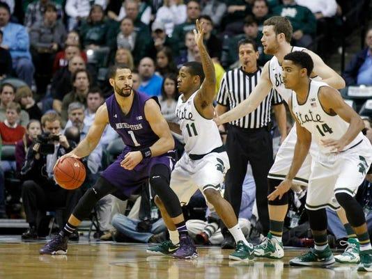 B10 Northwestern Michigan St Basketball