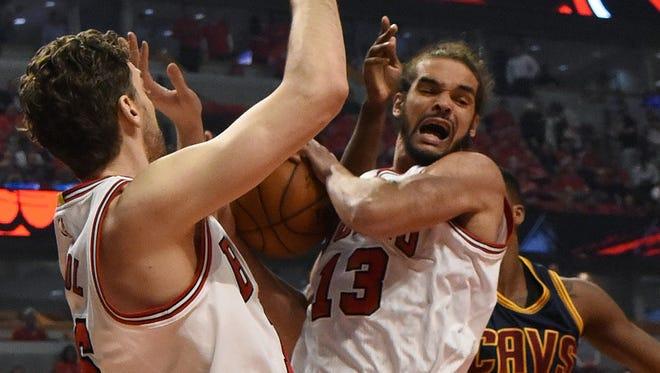 Joakim Noah had 11 rebounds and three blocks in the Bulls' Game 3 win.