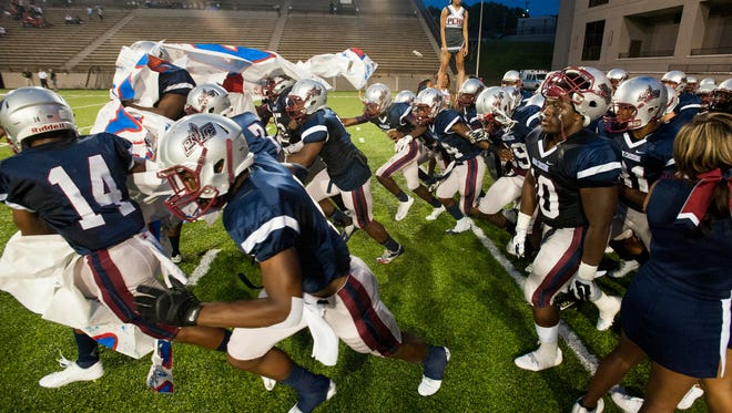 Park Crossing takes the field against Wetumpka at Cramton Bowl in Montgomery, Ala. on Friday September 11, 2015.