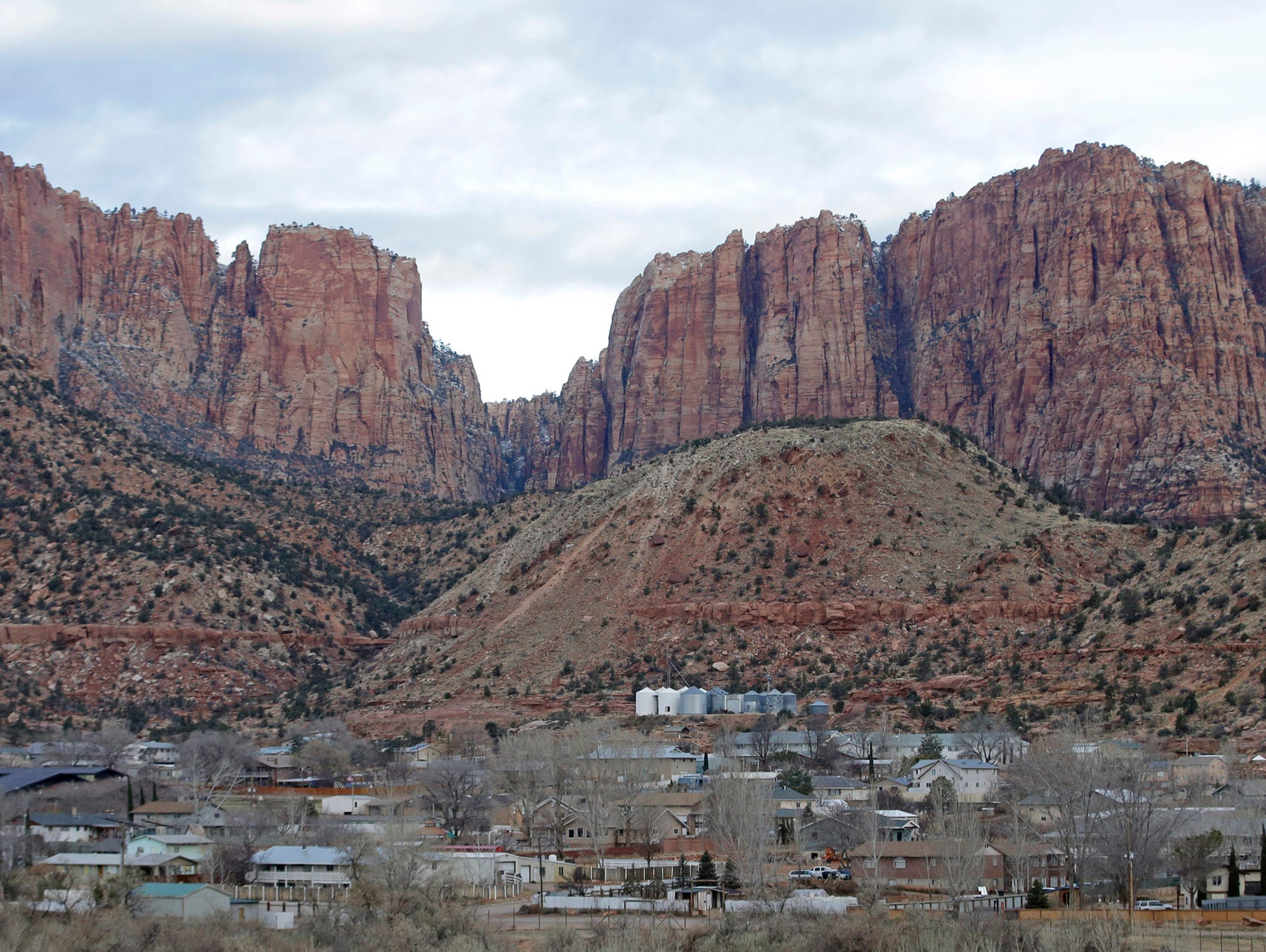 This Dec. 16, 2014, file photo, shows Hildale, Utah,