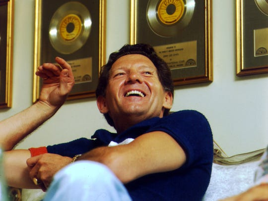 Jerry Lee Lewis at his Nesbit, Mississippi, home in