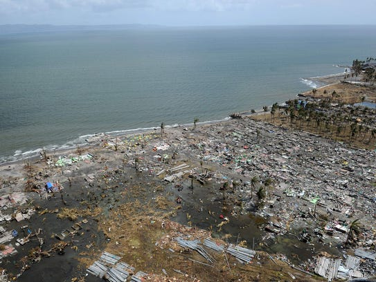 525374001 on After Typhoon Haiyan Devastated Central Philippines On November 8