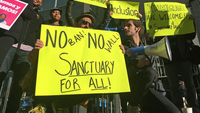 President Trump's effort to restrict funds to so-called 'sanctuary cities' is just one of the administration's policies that have landed in court or are headed that way.