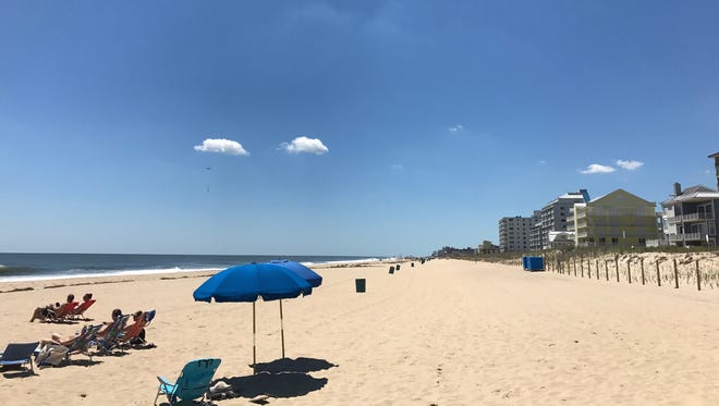 A view of the Ocean City beach from 86th street. Police closed the entrances from 81st to 85th street Friday, June 9.