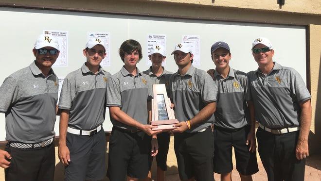 The Bishop Verot boys golf team won the District A-17 crown.
