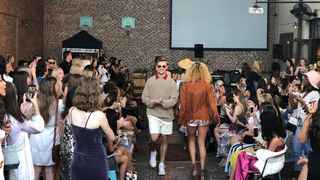Clutch magazine celebrates their spring issue with a runway show at Tin Lizzy's last Thursday.