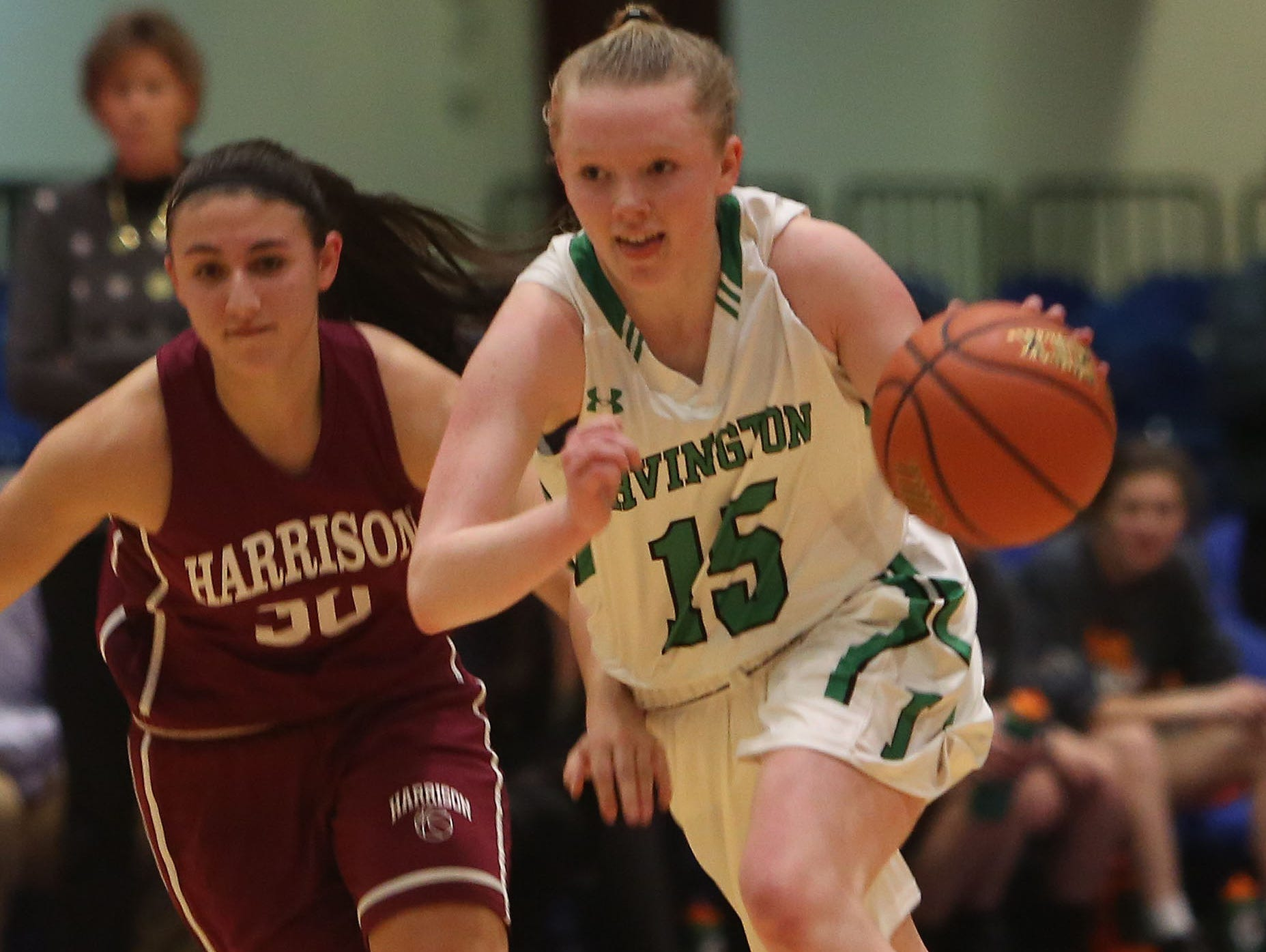 Irvington defeated Harrison 57-55 in the challenge game of the Slam Dunk Tournament at the Westchester County Center in White Plains Dec. 26, 2015.