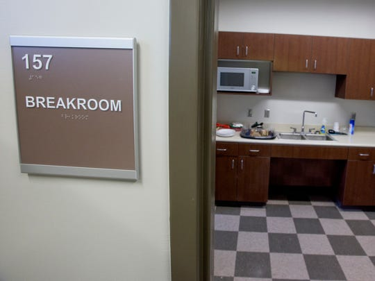 Break rooms in the new Montgomery Municipal Court Building in Montgomery, Ala. on Wednesday December 21, 2016. The old building did not have break rooms.