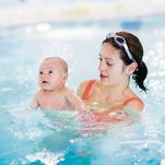 Both the Kroc Center in Downtown Greenville and many local YMCA locations offer infant and toddler swim lessons yearlong.