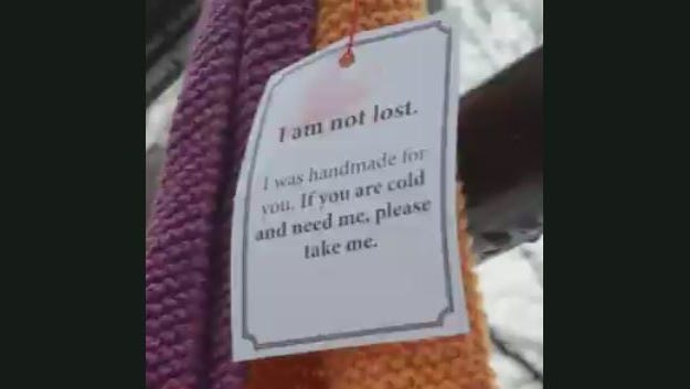 A random act of kindness to keep those in need warm.