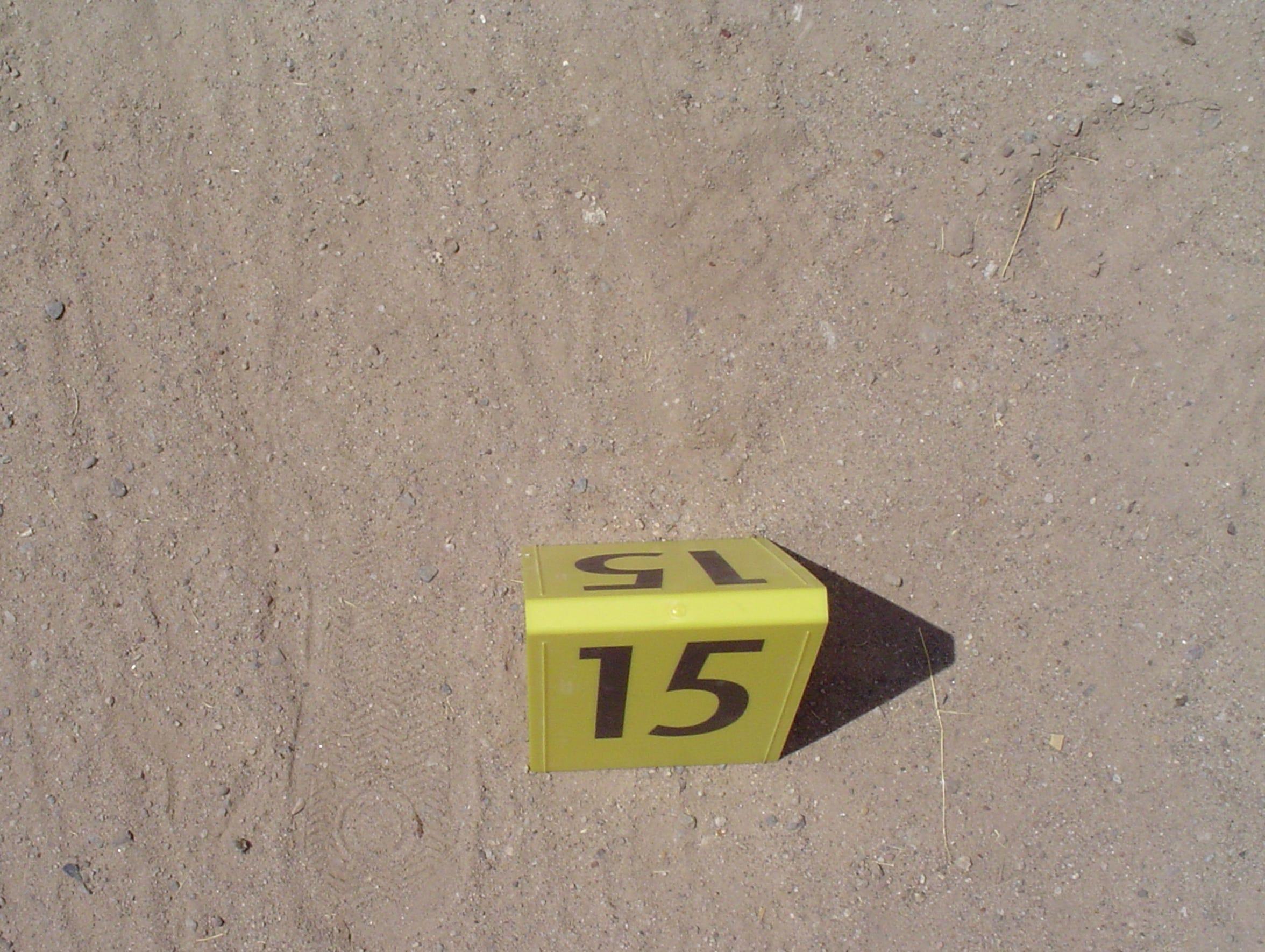 Footprints were found near where the getaway car --