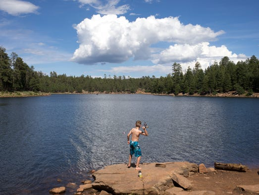 Payson and beyond rim country getaways for Woods canyon lake fishing