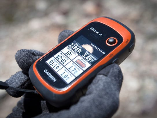 GPS reading near the top of a ski line on the ridge