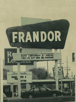 The sign at Frandor.