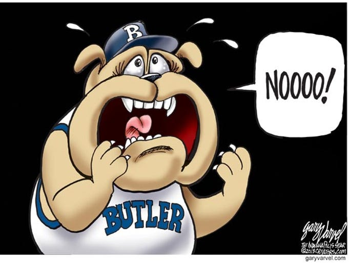 The year provided plenty of fodder for Indy Star cartoonist Gary Varvel. Here Varvel shares 50 of his best cartoons of 2013.This was the reaction of Butler fans to the news that Coach Brad Stevens was leaving to coach the Boston Celtics.