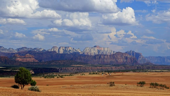 West Temple and other prominent features of Zion National