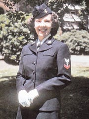 Yerington's Phyllis Witesman is pictured in uniform as she served in the Navy during World War II.