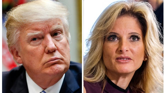 """President Trump and Summer Zervos, former contestant on """"The Apprentice."""""""