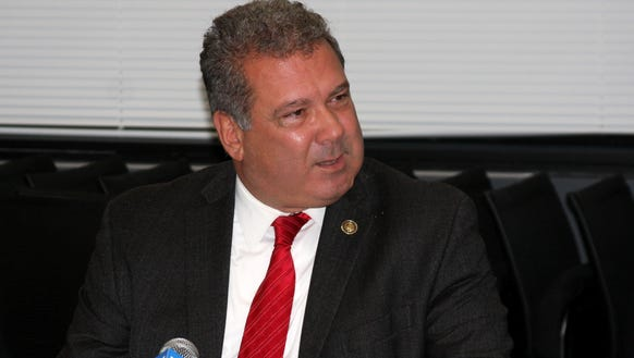 Yonkers Mayor Mike Spano, talks with The Journal News